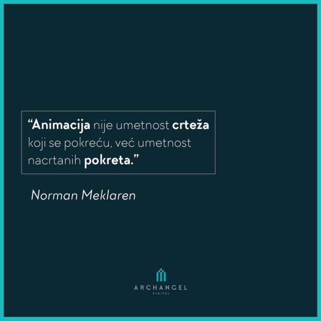 """Animation is not the art of drawings that move but the art of movements that are drawn.""   Norman McLaren  #archangeldigital #ads #historyofanimation #historyofanime #ilustration #animation #citat #citati #movie #movies #moviequotes #quotes #quote #quotesdaily #qotd #quotesinstagram #cinema #moviefans #movielover #cinema"