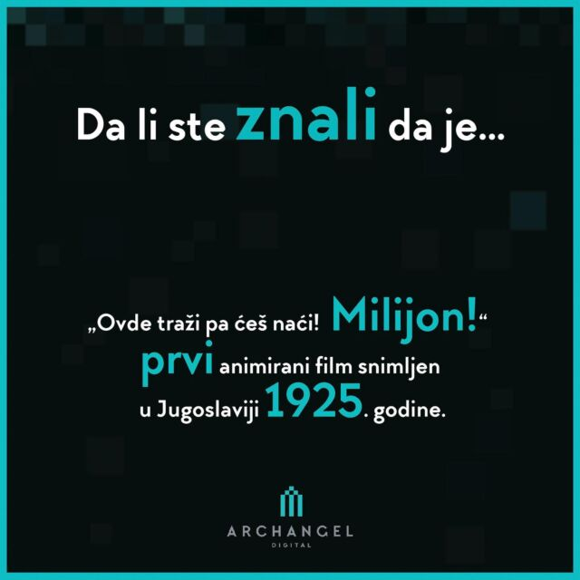 """Did you know that...  """"Search here and you will find! A Million! Is the first animated film made in Yugoslavia in 1925.  The author of the advertising miniature that started a wave of animation in our area is Ernest Bošnjak.  #archangeldigital #ads #dalisteznali #zanimljivosti #historyofanimation #historyofanime #ilustration #storyboard #graphicdesign #animation #didyouknow #funfacts #facts #funfact #entertainment #filminserbia #kids #series #storyteller #arts #balkanima #director #2Danimation #3danimation #arts"""