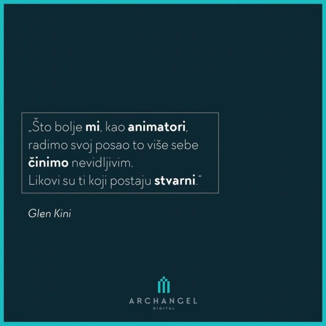 """""""The better we, as animators, do our job the more invisible we make ourselves. Characters are the ones that become real.""""  Glen Keane  #archangeldigital #ads #quotes #quoteoftheday #quotesdaily #anime #animationworld #iluatration #ilustracija #animation #animacija #storyboard #graphicdesign #quotestagram #quotestags #quotesandsayings #quotestoinspire #quotestoremember #inspiration"""