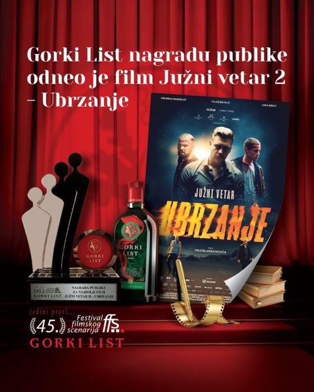 Po aplauzu se dobar film poznaje… A naš Južni vetar 2 – Ubrzanje je sa Festivala filmskog scenarija u Vrnjačkoj Banji poneo nagradu publike!  Hvala @gorki_list i @jedini_pravi_ffs , a posebno publici koja je srpsku premijeru @juznivetarfilm učinila magičnom.  Uskoro #ubrzavamo u Beogradu! 🔥  #archangeldigital #ads #juznivetar #juznivetarfilm #juznivetarubrzanje #juznivetar2 #milosbikovic #miodragradonjic #milosavramovic #jovanastojiljkovic