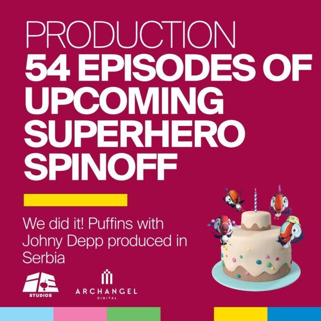 Zajedno sa @iervolino_studios za godinu dana smo kreirali smo 54 epizode, koje su u fazi produkcije, prvog #MadeInSerbia superherojskog animiranog serijala za decu širom sveta a uskoro završavamo i prvi serijal.  Naše timove čini preko stotinu zaposlenih umetnika sa kojima ispisujemo novo poglavlje animiranog filma u Srbiji. Radujemo se projektima koji nas tek očekuju.  #iervolinostudios #ies #archangeldigital #ads #animationstudio #animationartist #film #cartoon  #streamingplatforms #amazonprime  #appletv #production #puffinsofficial #iervolinoandladybacardientertainment #milosbikovic #andreaiervolino #belgrade #beograd #novisad